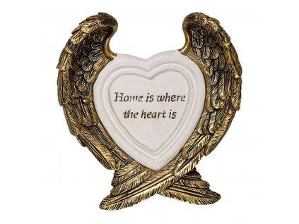 Rámeček na fotku bílé srdce ANDĚLSKÁ KŘÍDLA
