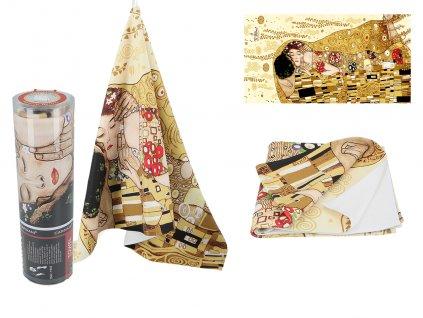 Ručník G. Klimt, The Kiss krémové pozadí....