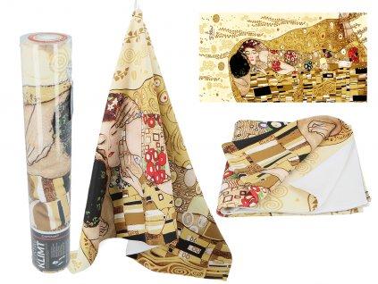 Ručník G. Klimt, The Kiss v dárkové krabičce