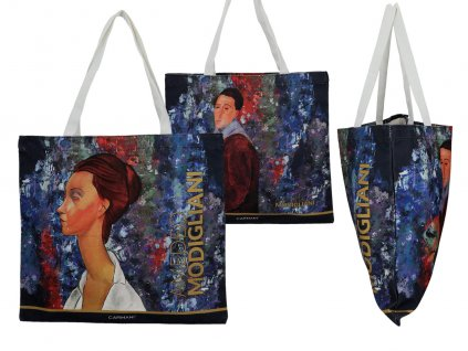 Látková taška, A. Modigliani, Lunia Czechowska and Self portrait