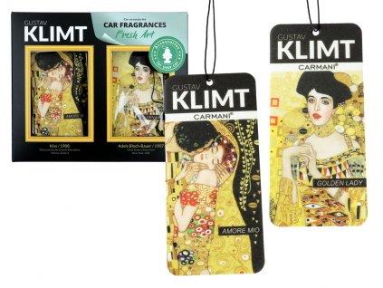 Sada 2 vůní do auta, G. Klimt Amore mio + Golden Lady