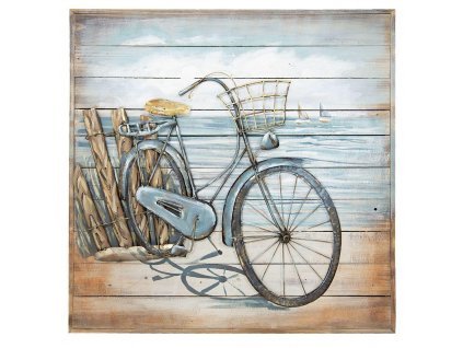 Kovový obraz BICYCLE - 80*80*6 cm
