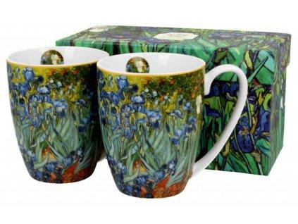 Sada dvou šálků V. van Gogh IRISES v dárkové krabičce
