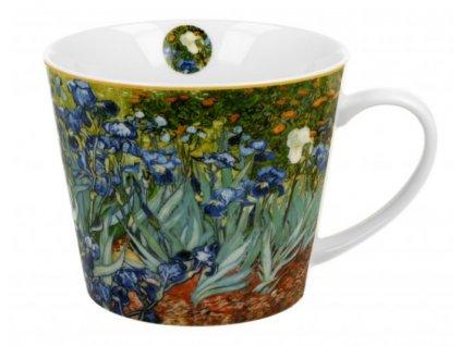 Velký porcelánový hrnek V. van Gogh IRISES v dárkové krabičce 610 ml