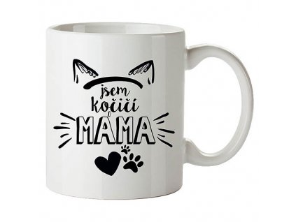 Bohemia Gifts Keramický hrnek 350 ml - jsem kočičí máma