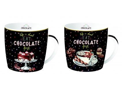 Easy Life - Sada porcelánových hrnků Hot Chocolate - 2*350 ml