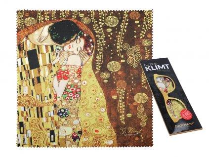 Carmani - Utěrka na brýle G. Klimt, The Kiss - Polibek