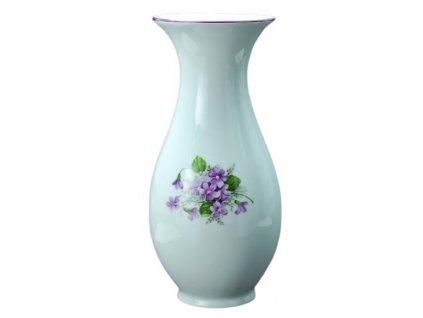 Porcelánové váza FIALKY - 25,5 cm
