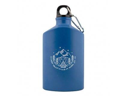 Bohemia Gifts Kovová lahev 0,5 l pro turisty - hory volají