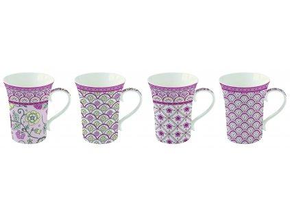 Easy Life - Krásná dárková sada hrnků na čaj Monsoon Pink - 4*360 ml