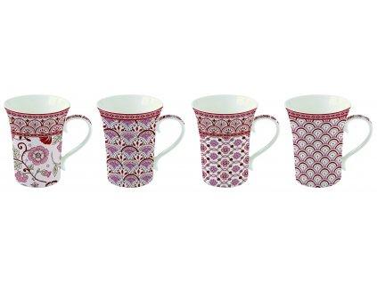 Easy Life - Krásná dárková sada hrnků na čaj Monsoon Red - 4*360 ml