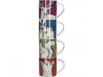 Creative Tops - Sada porcelánových hrnků Into The Wild - 4*300 ml