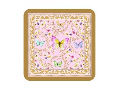 Easy Life - Korkové podložky Majestic Butterflies /10,5*10,5 cm/ - 6 ks v balení