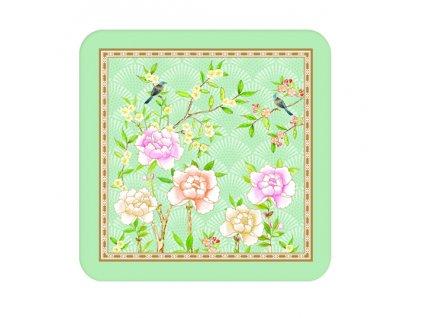 Easy Life - Korkové podložky Palace Garden Aqua /10,5*10,5 cm/ - 6 ks v balení