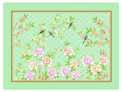 Easy Life - Korkové prostírání Palace Garden Aqua /40*30 cm/ - 4 ks v balení