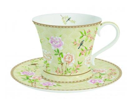 Easy Life - Porcelánový šálek a podšálek na čaj Palace Garden Fresco - 300 ml