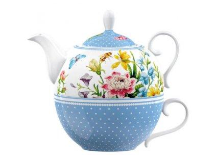 Creative Tops - Porcelánový šálek s konvičkou English Garden - Hrnek má objem 200 ml a konvička 380 ml