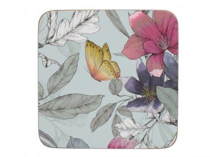 Creative Tops - Korkové podložky Butterfly Floral /10,5*10,5 cm/ - 6 ks v balení