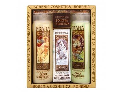 Bohemia Gifts Kosmetická sada Mucha Art nouveau - 2x gel a mýdlo no. 2