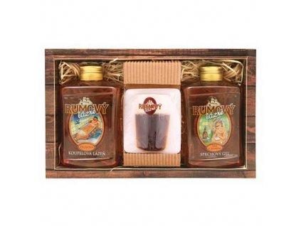 Bohemia Gifts Sada rumová kosmetika - gel, mýdlo a olejová lázeň
