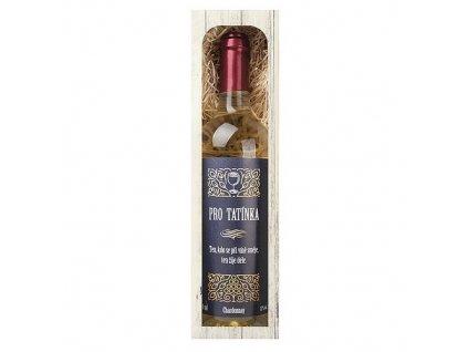 Bohemia Gifts Dárkové bílé víno 0,75 l pro tatínka - Chardonnay