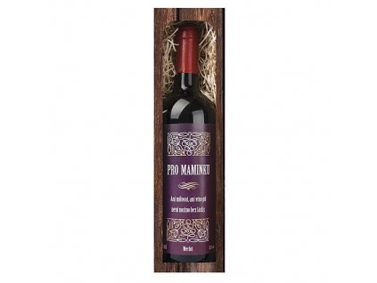 Bohemia Gifts Dárkové červené víno 0,75 l mamince - Merlot