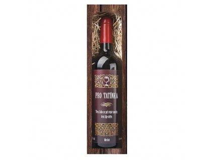 Bohemia Gifts Dárkové červené víno 0,75 l pro tatínka - Merlot