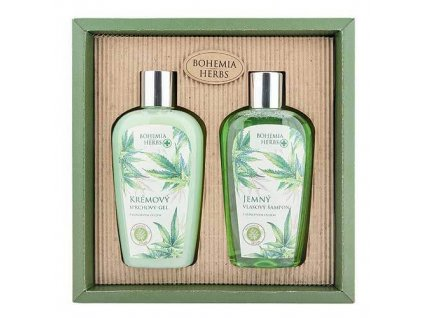 Bohemia Herbs Sada konopné kosmetiky - sprchový gel a šampon