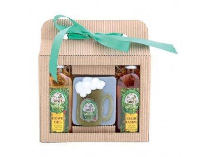 Bohemia Gifts Beer Spa dárková sada pivní kosmetiky - gel, mýdlo a šampon