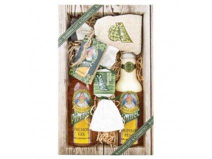 Bohemia Gifts Pivrnec sada pivní kosmetiky – gel, šampon, mýdlo a sůl