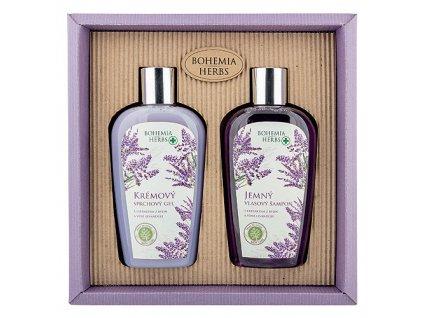 Bohemia Gifts Kosmetická sada - gel 250ml a šampon 250ml - levandule