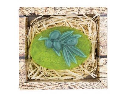 Bohemia Gifts Ručně vyráběné tvarované mýdlo 90 g - oliva
