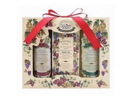 Dárková kosmetická sada Wine Spa – gel, mýdlo a šampon