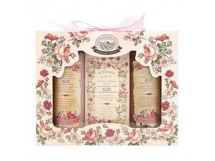 Bohemia Natur Dárková kosmetická sada růže – gel, mýdlo a šampon