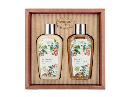 Bohemia Herbs Kosmetická sada s kofeinem - sprchový gel a šampon