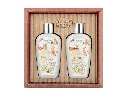 Bohemia Herbs Kosmetická sada kozí kosmetika - sprchový gel a šampon