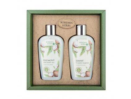 Bohemia Herbs Kosmetická sada kokos - sprchový gel a šampon