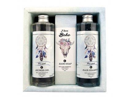 Bohemia Gifts Boho Style kosmetická sada aqua - gel, mýdlo a šampon
