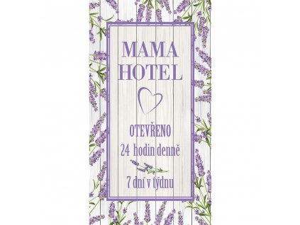 Bohemia Gifts Dekorační obraz 20 x 40 cm - Mama Hotel
