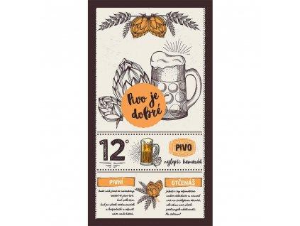 Bohemia Gifts Dekorační obraz 20 x 40 cm - Pivo je dobré