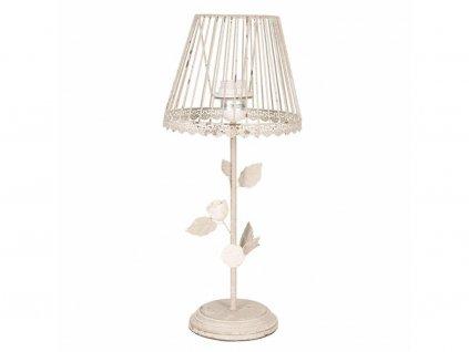 Vintage stolní kovová lampa s růžičkami - Ø 20*48 cm/E27