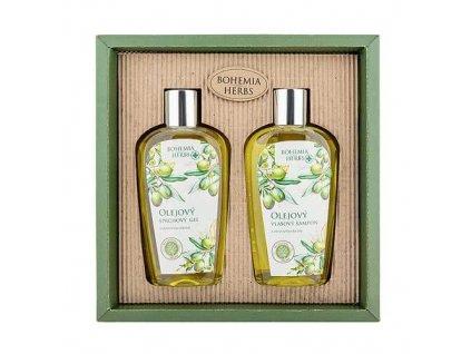 Bohemia Herbs Dárkové kosmetická sada - oliva - gel a šampon