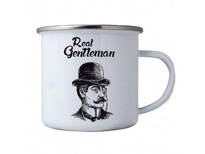 Bohemia Gifts Plechový smaltový hrnek pro muže - real gentleman
