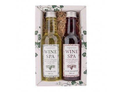Bohemia Gifts Wine Spa vinná kosmetika sada – spr. gel a šampon