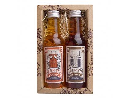 Bohemia Gifts Beer Spa sada – sprchový gel 200 ml a šampon 200 ml