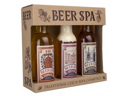 Bohemia Gifts Beer Spa sada gel 200ml, šampon 200ml a pěna 200ml