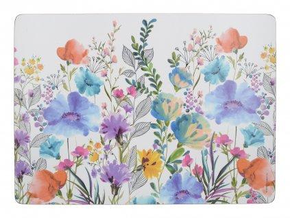 Creative Tops - Korkové prostírání Meadow Floral malé /29*21 cm/ - 6 ks v sadě