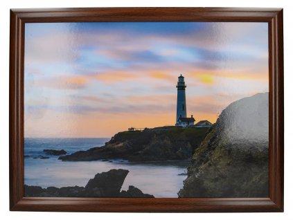 Creative Tops - Servírovací tác s polštářem Photographic Lighthouse /44*33 cm/