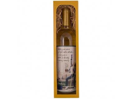 Bohemia Gifts Dárkové bílé víno 0,75 l Chardonnay – dvě decinky