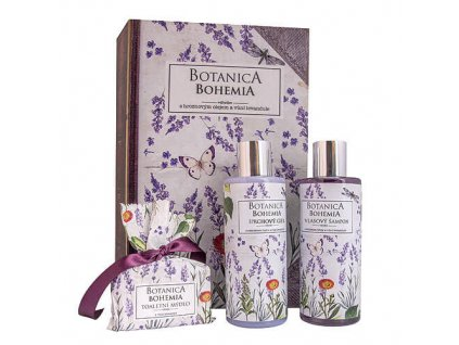 Bohemia Gifts Botanica sada gel 200ml, šampon 200ml a mýdlo 100g - levandule